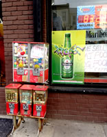 Hamza Deli, 655 5th Ave, Brooklyn, NY with poster designs for Heineken byMaria Dominguez for Bodega Cultural NYC