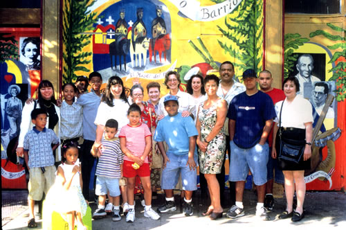 """Nuestro Barrio"", group photo, 1998"