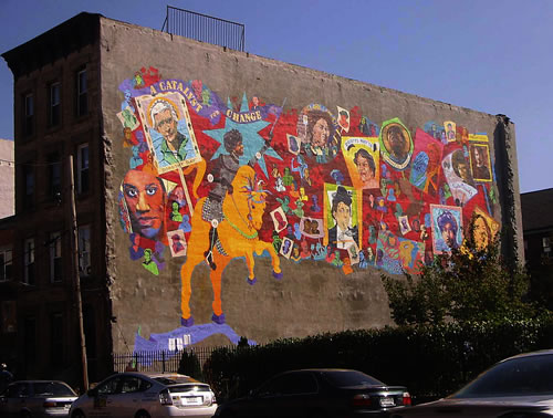"""When Women Pursue Justice"", sponsored by Artmakers, Inc., 2,800 square feet mural in Bedford – Stuyvesant, Brooklyn"
