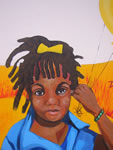 &quot;Bronx Allegory&quot; (detail),  acrylic on concrete, 15' x 40', 2007<br> for the The Health and Hospitals Corporation